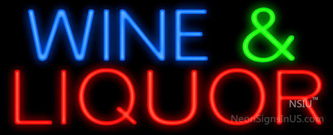 Wine and Liquor Neon Sign