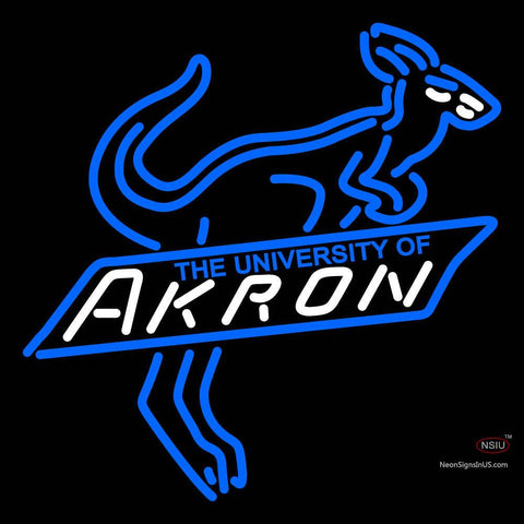 Akron Zips Primary  Pres Logo NCAA Neon Sign