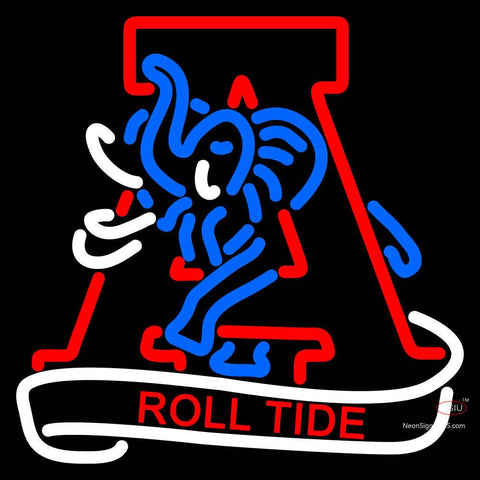 Alabama Crimson Tide Alternate 7  Logo NCAA Neon Sign x