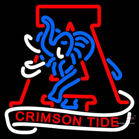 Alabama Crimson Tide Primary 7  Logo NCAA Neon Sign x