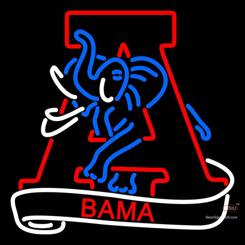 Alabama Crimson Tide Secondary 7  Logo NCAA Neon Sign