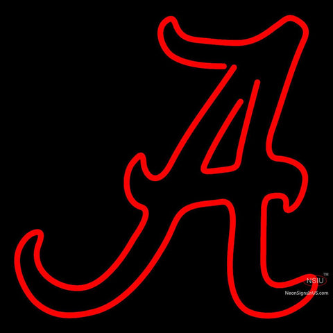 Alabama Crimson Tide Secondary  Pres Logo NCAA Neon Sign