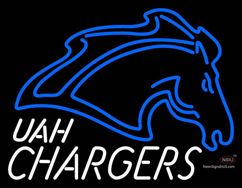 Alabama Huntsville Chargers Primary  Pres Logo NCAA Neon Sign