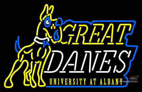Albany Great Danes Primary  Pres Logo NCAA Neon Sign