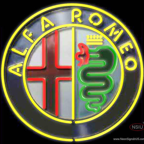 Alfa Romeo Real Neon Glass Tube Neon Sign Spider Montreal Real Neon Glass Tube Neon Sign