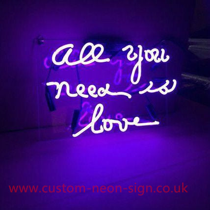 All Yo Need Is Love White Wedding Home Deco Neon Sign