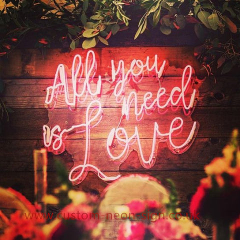 All You Need Is Love Wedding Home Deco Neon Sign