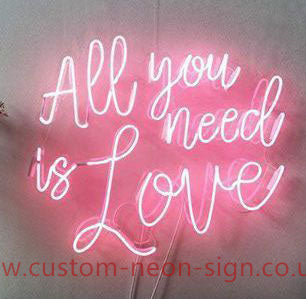 All You Need Is Love Pink Wedding Home Deco Neon Sign