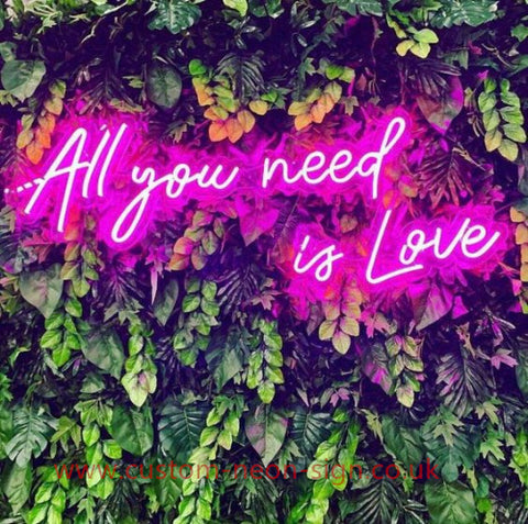 All You Need Is Love Red Wedding Home Deco Neon Sign