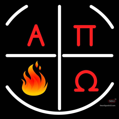 Alpha Pi Omega Logo Neon Sign