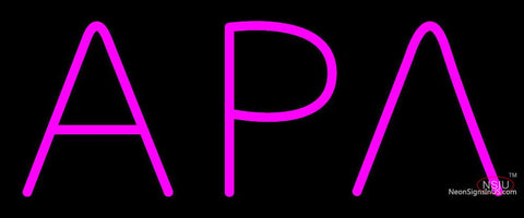 Alpha Rho Lambda Latina Greek Neon Sign
