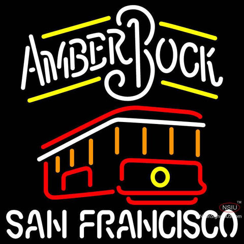 Amber Bock San Francisco Cable Car Neon Beer Sign x