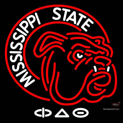 Amississippi State Bulldogs Alternate  Pres Logo Neon Sign