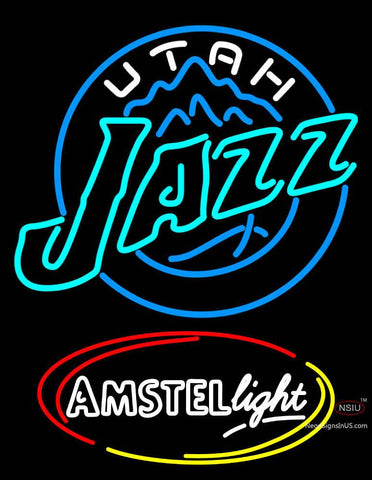 Amstel Light Utah Jazz NBA Neon Beer Sign