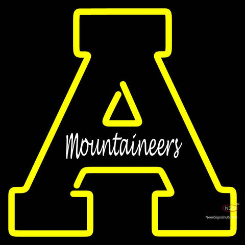 Appalachian State Mountaineers Primary 7  NCAA Neon Sign x