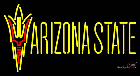 Arizona State Sun Devils Wordmark  Pres Logo NCAA Neon Sign