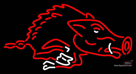 Arkansas Razorbacks Primary   Logo NCAA Neon Sign