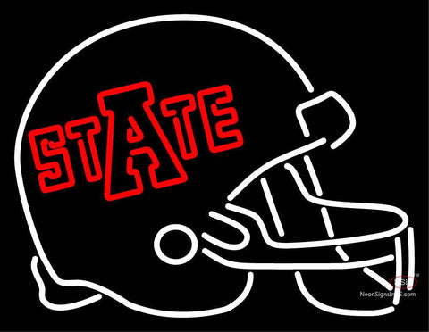 Arkansas State Red Wolves Helmet  Pres Logo NCAA Neon Sign