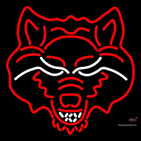Arkansas State Red Wolves Primary  Pres Logo NCAA Neon Sign