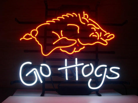 Arkansas Razorbacks Go Hogs Neon Sign