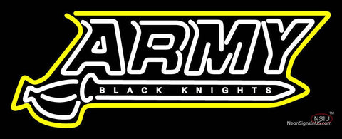 Army Black Knights Wordmark  Pres Logo NCAA Neon Sign