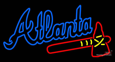 Atlanta Braves Alternate Wordmark 7 Pres Logo MLB Neon Sign