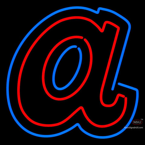 Atlanta Braves Cap 7  Logos Logo MLB Neon Sign