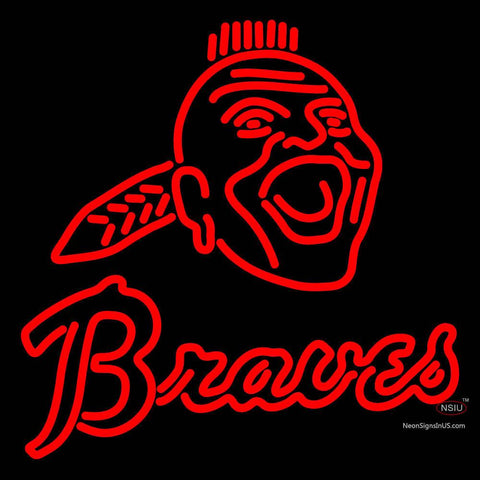 Atlanta Braves Primary 7  Logo MLB Neon Sign