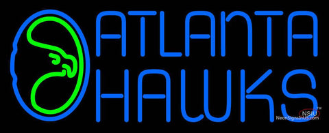 Atlanta Hawks Primary 7 7 7 7 Logo NBA Neon Sign