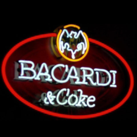 Bacardi And Coke Neon Sign