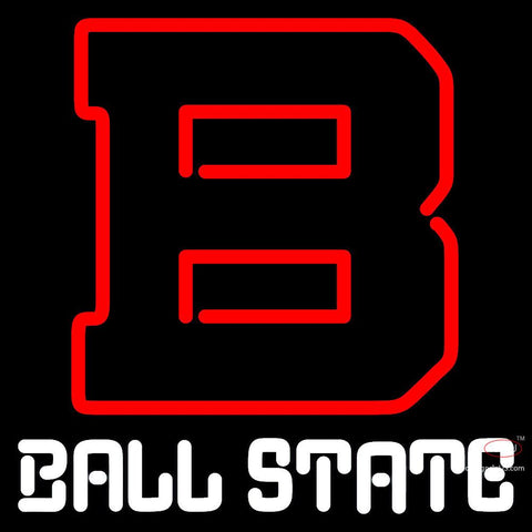 Ball State Cardinals Alternate   Logo NCAA Neon Sign x
