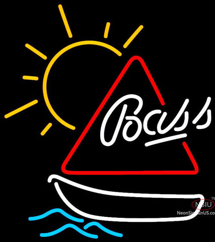 Bass Sailboat Neon Beer Sign