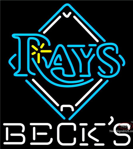 Becks Tampa Bay Rays MLB Neon Sign