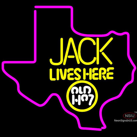 Big Jack Daniels Jack Lives Here Texas Neon Sign
