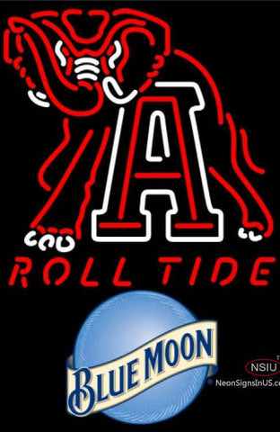 Blue Moon Alabama Roll Tide UNIVERSITY Neon Sign