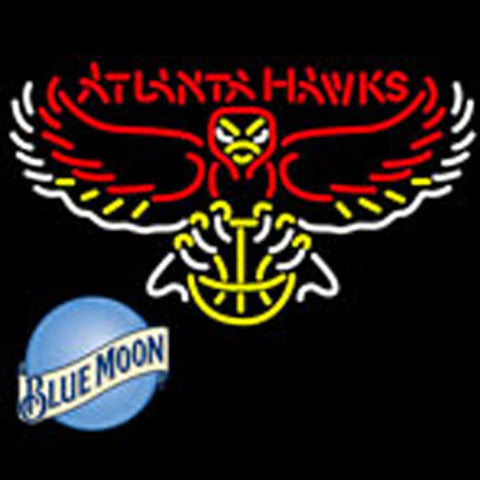 blue moon atlanta hawks nba neon sign
