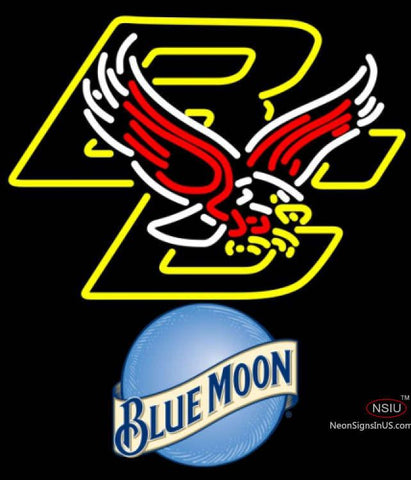 Blue Moon Boston College Golden Eagles UNIVERSITY Neon Sign