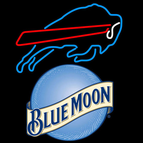 blue moon buffalo bills nfl neon sign