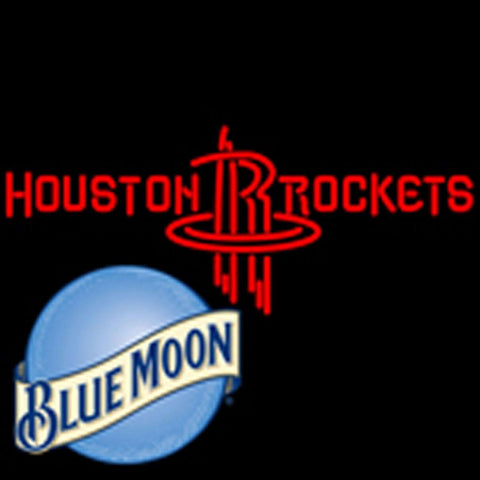 blue moon houston rockets nba neon sign
