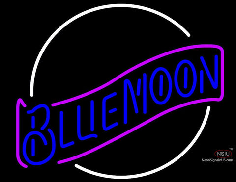 Blue Moon Blue Neon Beer Sign