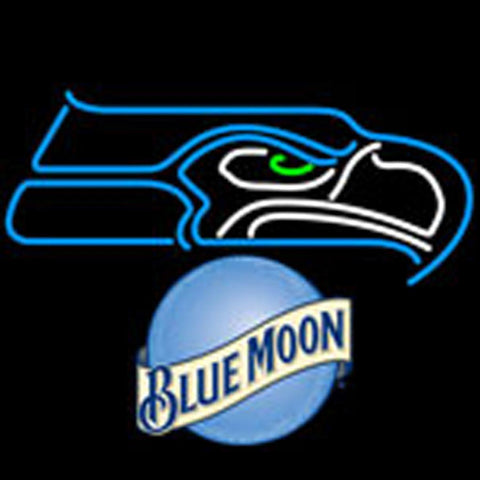 blue moon seattle seahawks nfl neon sign