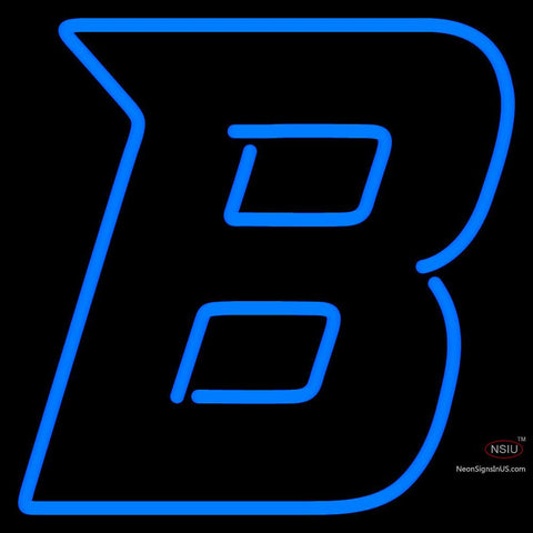 Boise State Broncos Secondary  Pres Logo NCAA Neon Sign x
