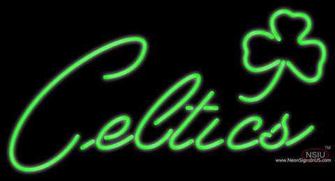 Boston Celtics Alternate  7 Pres Logo NBA Real Neon Glass Tube Neon Sign