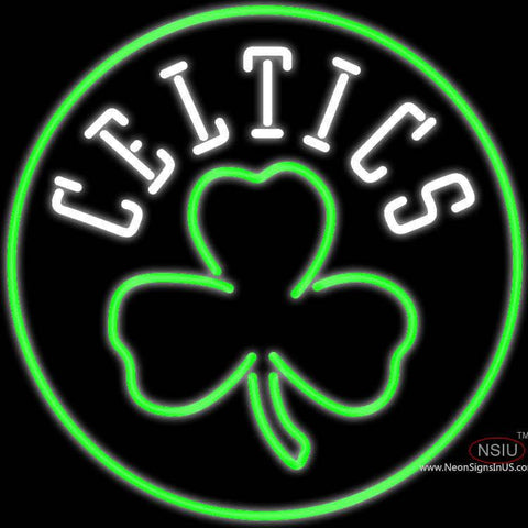 Boston Celtics Alternate Logo Real Neon Glass Tube Neon Sign x
