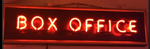 Box office Real Neon Glass Tube Neon Sign