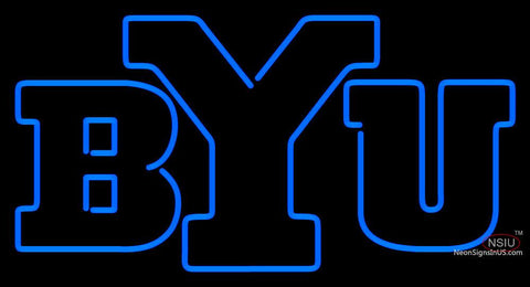 Brigham Young Cougars Alternate   Logo NCAA Neon Sign