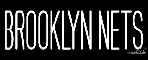 Brooklyn Nets Wordmark   Pres Logo NBA  Neon Sign