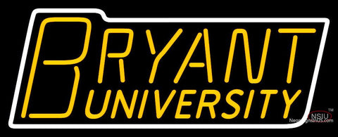 Bryant Bulldogs Wordmark  Pres Logo NCAA Neon Sign