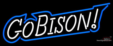 Bucknell Bison Wordmark  Pres Logo NCAA Neon Sign