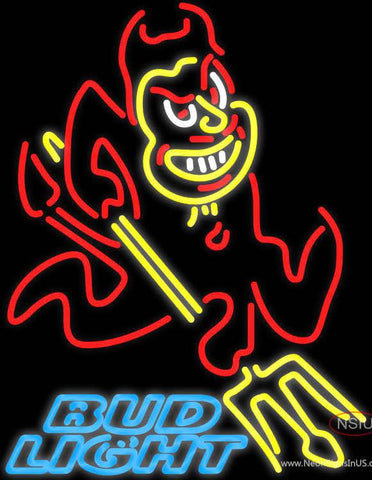 Bud Light Arizona State Sun Devils Real Neon Glass Tube Neon Sign ASU